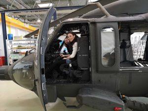girl in cockpit