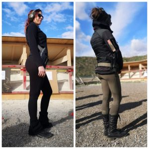 2 frauen in leggings