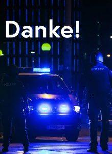 Vienna terror attack - police car